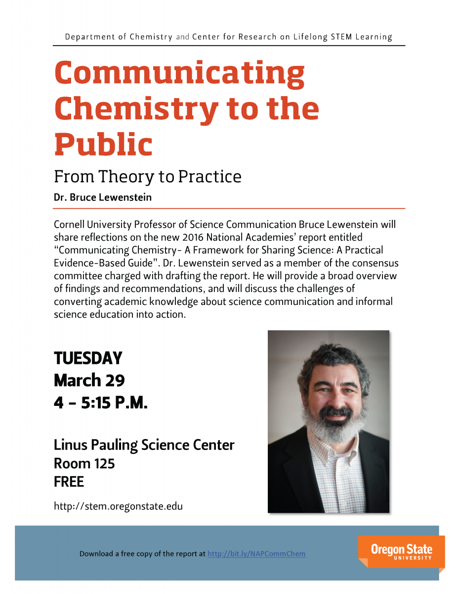 Communicating Chemistry with the Public