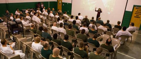 Scientist ambassador gives lecture at a prison